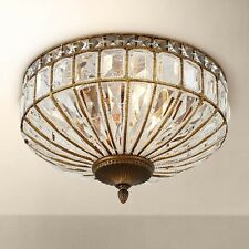 "Ibeza 15 1/2"" Wide 3-Light Crystal Mocha Chandelier Ceiling Light Vintage NEW"