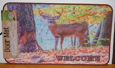 """17.7"""" x 30"""" Indoor/Outdoor Welcome Deer Scene Door Mat #70551"""