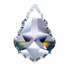 """2 Asfour Lead Crystal French Clear Chandelier Prism 3.5"""" 89mm Pendalogue Pendant"""