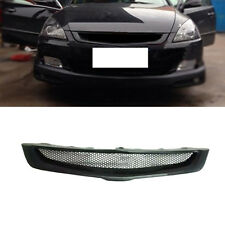 Black Resin honeycomb mesh Front Grille modified for Honda Accord 7th 2003-2007