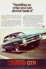 1969 LC HOLDEN TORANA GTR A3 POSTER AD BROCHURE MINT ADVERTISEMENT ADVERT