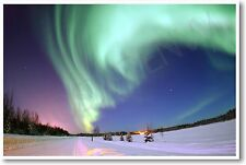Aurora over Alaska - USA America Northern Lights Science Gift Print - NEW POSTER