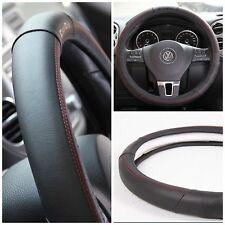 Black + Red Trim PVC Leather Steering Wheel Cover for Nissan 370Z Altima 350Z