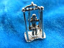 NUVO VINTAGE STERLING SILVER CHARM GIRL ON A SWING MOVES