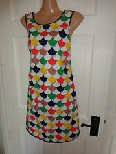 Boden 100% Cotton Patterned 60's Style Dress, UK 10 Regular, Excellent Condition