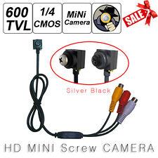 New 600TVL CAMERA Mini Sliver Screw Pinhole Audio Security Micro Wired Camera