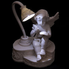 Angel Cherub Ornament With Reading Lamp Figure Gift Figurine Mother Christmas