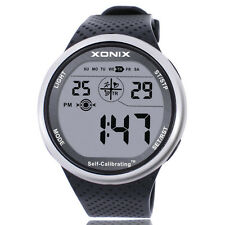 Xonix Men Sports Wristwatch Digital Radio Wave WR100M Swim outdoor Watch