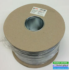1mm 3 CORE AND EARTH ELECTRIC CABLE 100m 6243Y BS6004 LIGHTING/SMOKE ALARMS