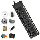 HOT Utility 7 Port High Speed USB 2.0 Hub Adapter ON/OFF Switchs For PC Laptop