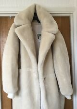 NEW Topshop Cocoon Faux Fur Coat Polar Bear Teddy  Top Like Sandro Other Stories