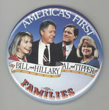 1992 BILL CLINTON Al Gore PRESIDENT Political PIN Button PINBACK Badge HILLARY
