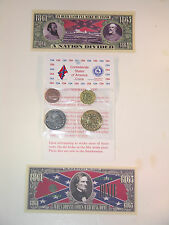Civil War Confederate 4 Coin Set, Reproductions From Original Dies,Bill,Restrike