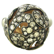 Preziosismi 18k Gold 3.10ctw Fancy Diamond Ball Ring $8068