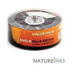 25 Traxdata Value Pack Black Edition Dvd-r 8x en blanco discos 4.7 Gb Ritek Dye G05