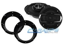 """NEW PIONEER 6.5"""" REPLACEMENT SPEAKER SET W/ MOUNTING BRACKET FOR HARLEY DAVIDSON"""
