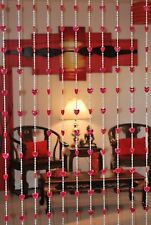 Beautiful Acrylic Beaded Curtain - Red Heart