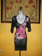 NWT  bebe Orchid Sequin Trim Tunic Dress Size M