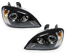FREIGHTLINER COLUMBIA 2002 2003 2004 2005 BLACK PROJECTOR HEADLIGHTS PAIR SET