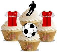 Novelty Arsenal Football Mix New Edible Cake Toppers Decorations Birthday FC