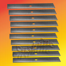 "10 Edger Blades Unsharpened 10"" X 1/2"" Fits  McLane PowerTrim Lesco"