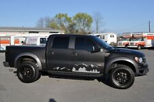 2 Decal lift sticker kit For Ford F-150 Raptor stripes side mountain Winch wheel