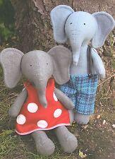 PARSLEY & BEET - Sewing Craft PATTERN - Soft Toy Felt Elephant Rag Doll Bear