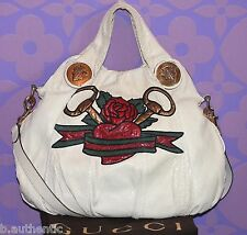 GUCCI Exotic Python Snakeskin Hysteria Tattoo Horsebit/Rose/Heart Bag LIMITED 4K