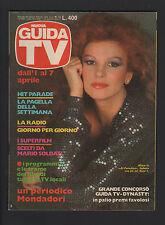 NUOVA GUIDA TV MONDADORI 13/1984 MILVA SARA CARLSON PROGRAMMI TV LOCALI LAZIO