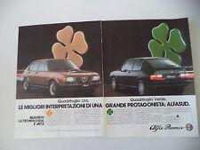 advertising Pubblicità 1983 ALFA ROMEO ALFASUD QUADRIFOGLIO ORO/VERDE