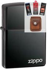 Zippo 150zl black ice windproof Lighter + FUEL FLINT WICK POUCH GIFT SET