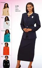 Sunday Best Women Church Suit - Soft Crepe Fabric - Standard to Plus Size - 295