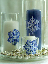 WALLIES SNOWFLAKES winter holiday wall stickers 16 VINYL peel stick decals snow