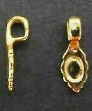 50-Gold-Plated Glue On Pendant Bails-medium16X7mm+FREE-chain            (1A9)W1A