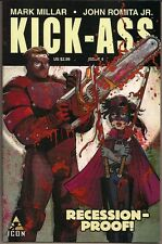 KICK ASS #4 MARVEL ICON COMICS 10/08 FIRST PRINT HIT-GIRL & BIG DADDY COVER NM