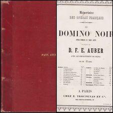 D.F...E. AUBER DOMINO NOIR  OPERA-COMIQUE