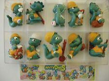 I Simpaticissimi HappyDinos Kinder sorpresa dipinti a mano 10 personaggi  (MQX)