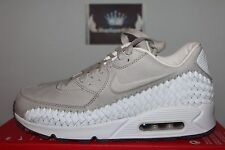 Nike Air Max 90 Woven Phantom Light Iron Ore/White 833129-005 Men's US 7.5