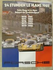 1985 Porsche 956 24 Hours of Le Mans Victory Showroom Advertising Poster RARE!!