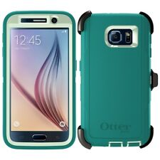 OtterBox Defender Series Samsung Galaxy S6 Case & Belt Clip Holster Green Teal