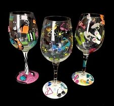 Lolita Hand Painted Wine Glasses Flip Flop Shopaholic Sunglass Cooler W/ Recipes