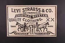 VTG 70S LEVIS STORE DISPLAY POSTER 17X27
