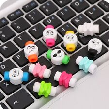 10pcs New Cute Emoji Charger Cable Saver Protector Protective For iPhone6S& plus