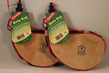 2 PK 1 LITER BOTA BAGS FINE GOATSKIN LEATHER POLY LINED BRAIDED STRAP FROM SPAIN