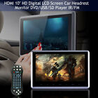 "10.1"" HDMI Touch Screen Slim Headrest HD Car DVD Player Portable Monitor IR/FM"