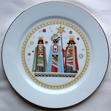 """Vtg HEINRICH H&C SELB Christmas PLATE 9.75"""" KINGS ORIENT WISE MEN Gifts GERMANY"""