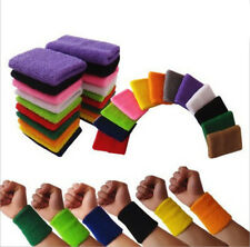 5Pcs Sweat Bands Terry Cloth Wrist Bands Fr Tennis Basketball Badminton Sports