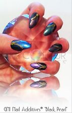 ��GNI Nail Additives® *Black Pearl*�� Suitable for ALL Nail Mediums 7 Pot Set