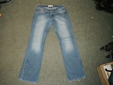 "Lee Cooper Clan Jeans Size 8 Leg 32"" Faded Dark Blue Ladies Jeans"