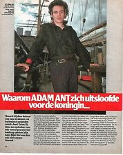 ADAM ANT 'on board' Popfoto magazine PHOTO / Pin Up /Poster 10x8 inches